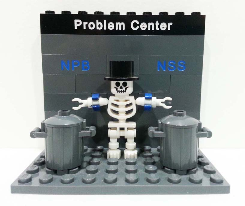 Problem center icon in LEGO