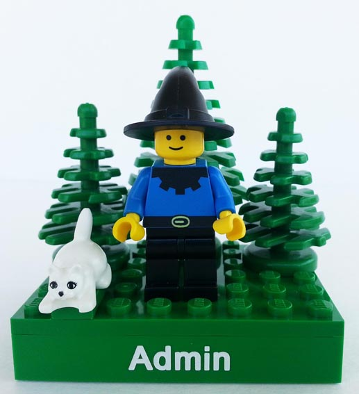 Dan as Admin in LEGO