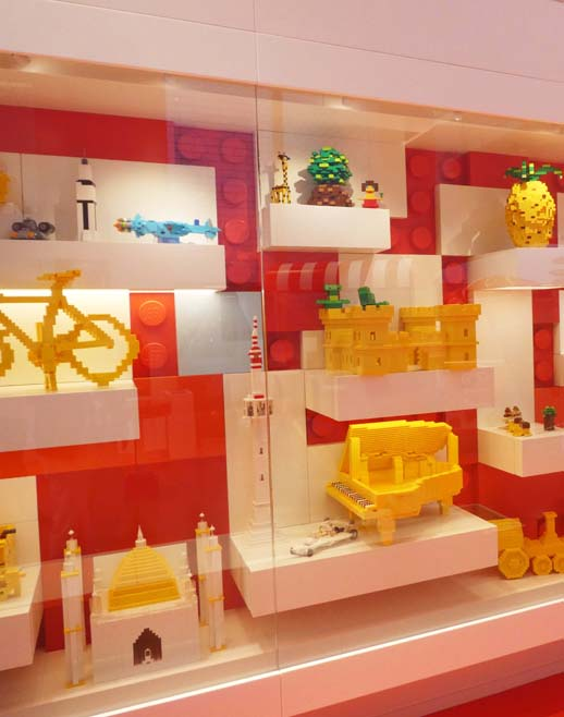 Use of LEGO brick for simple designs were on display