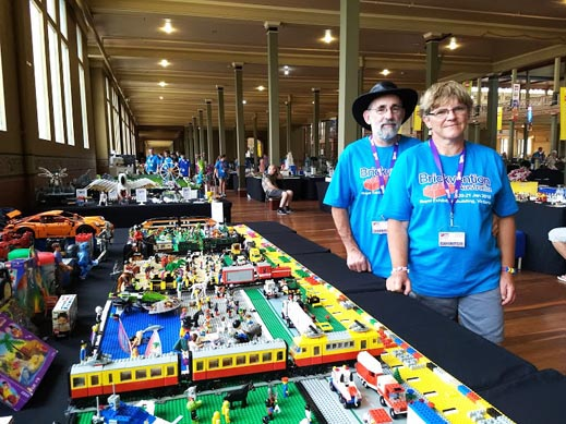 Martin and Francis Schroeter at Brickvention 2018
