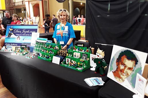 Eliska with our Brickvention display