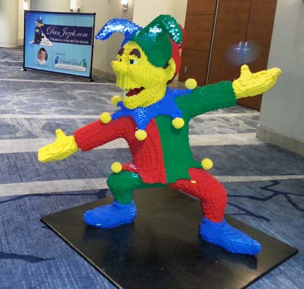 Court Jester made of LEGO