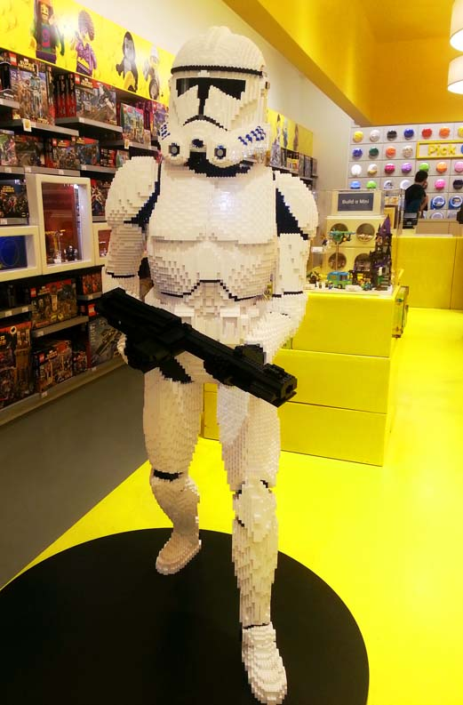 Star Trooper from LEGO in Las Vegas store