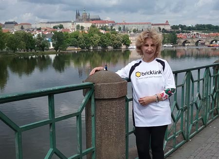eliska on bridge in prague